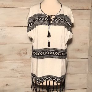 Sweater pancho tunic dressy or casual women's sm